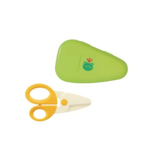利其尔  Richell 青蛙图案婴幼儿食物胶剪刀/辅食剪