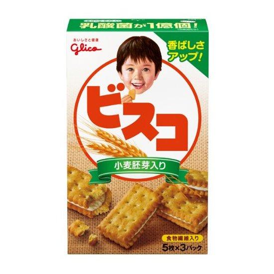 固力果 glico 小麦胚芽乳酸营养夹心饼