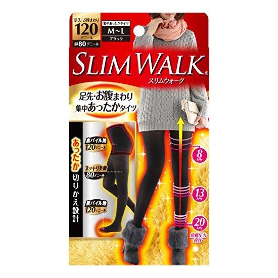 slimwalk 发热除臭美腿袜 瘦腿打底连裤袜