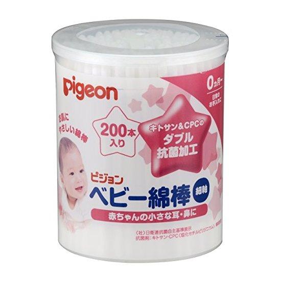 pigeon 贝亲 婴儿用抗菌清洁棉棒