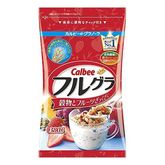 日本 Calbee 卡乐比 水果颗粒果仁谷物营养麦片 800g
