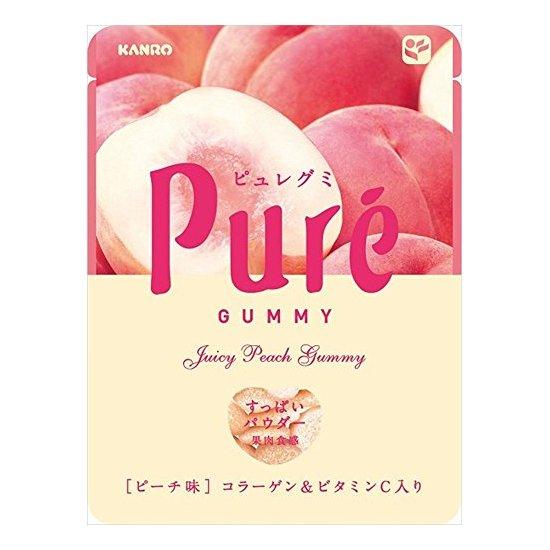 Kanro pure甘乐果肉果汁咀嚼弹力软糖