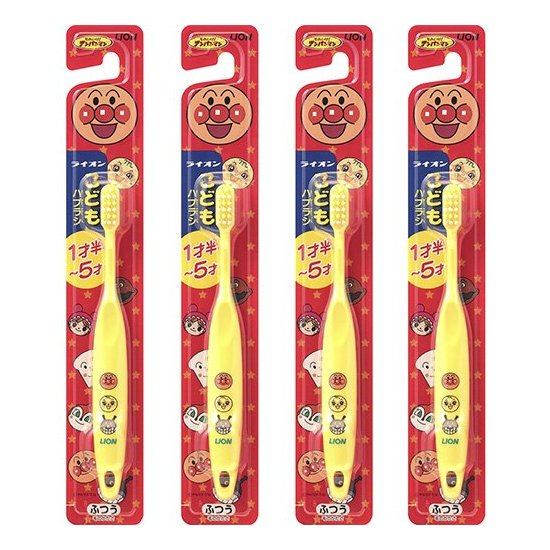 LION狮王 面包超人牙刷1.5-5岁婴幼儿童牙刷 三色选