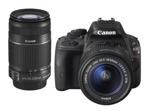 Canon佳能 EOS Kiss X7(100D)单反双镜头套装(EF-S18-55mm/55-250mm)