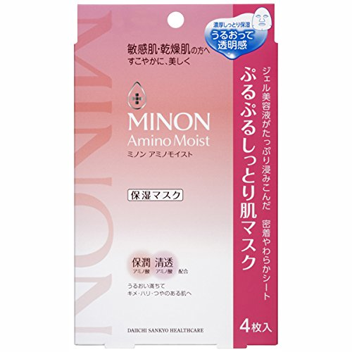 Minon干燥肌肤氨基酸保湿面膜 22ml*4片