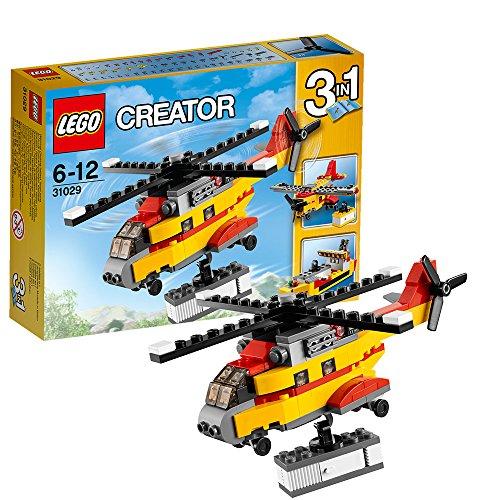 Lego乐高CREATOR创意三合一积木拼装玩具 货物直升机31029