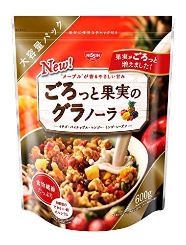 日清 水果谷物麦脆麦片 食物纤维满腹代餐 600g×6袋