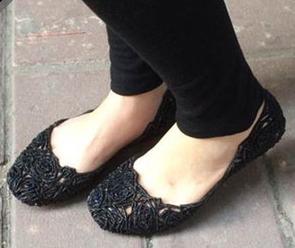 大码好价!Melissa 梅丽莎CAMPANA FITAS 玫瑰花鸟巢女士镂空平底鞋
