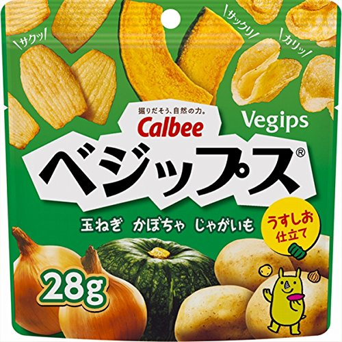 吃货小食!日本原装CALBEE vegips天然南瓜马铃薯蔬果干 28g×12袋