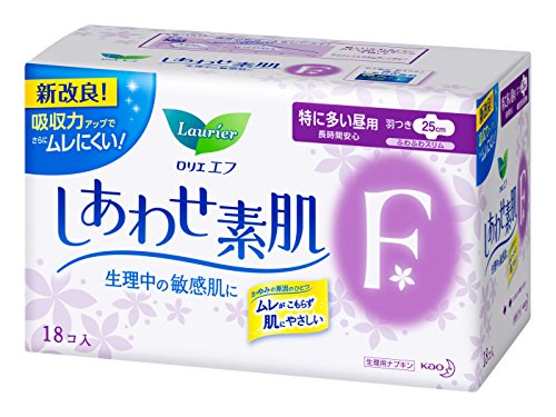 凑单品!KAO 花王 乐而雅 F素肌防敏感丝薄纯棉卫生巾 日用 25cm*18片