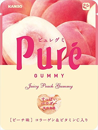 KANRO Pure gummy 水蜜桃味水果软糖 56g*6袋